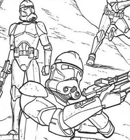 Clone Soldiers Running Coloring Page
