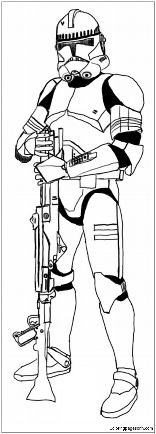 Clone Trooper Coloring Page - Free Coloring Pages Online