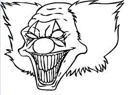 Clown Funny Coloring Page