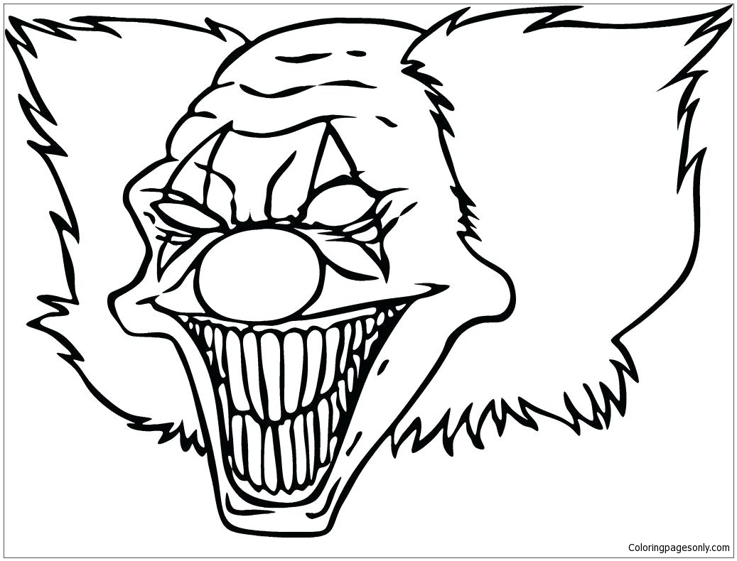 Clown Funny Coloring Page Free Coloring Pages Online