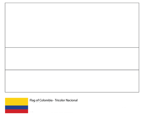 Flag of Colombia-World Cup 2018