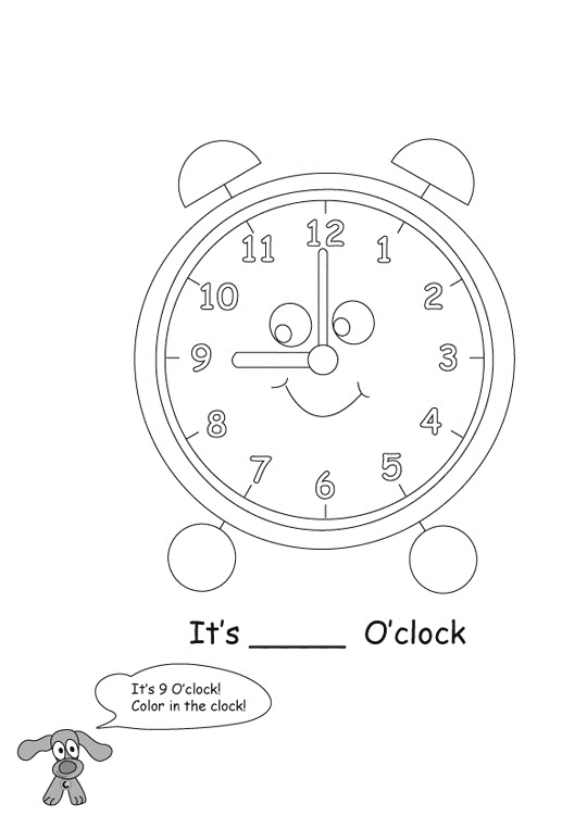 Color My Time Coloring Page