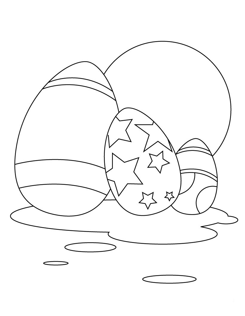 Colorful Easter Eggs With Assortment Coloring Page