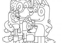Bluey family Coloring Page