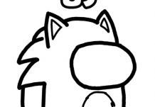 Sonic Among Us Coloring Page