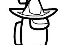 In a wizard hat Coloring Page