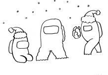 Astronauts from Among Us Christmas