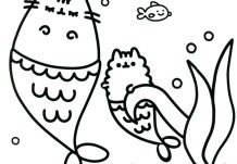 Top Pusheen Coloring Book The Cat Printable