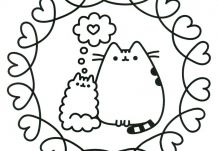 Pusheen Cat Love Best Heart Sheets For Adults
