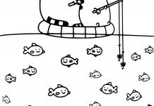 Pusheen Fishing With Dad Printable