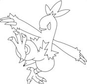 Combusken From Pokemon Coloring Page