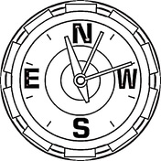 Compass Coloring Page