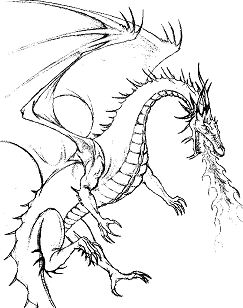 Complete Dragon Coloring Page