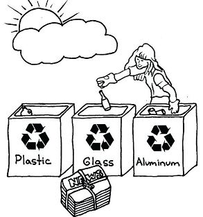 Complete Recycling Coloring Page