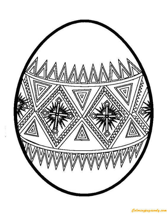 complex easter coloring pages - photo#10