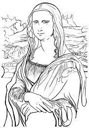 Complex Mona Lisa Coloring Page