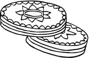 Cookies With Chocolate Top Coloring Page