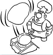 Cooking A Pancake Coloring Page