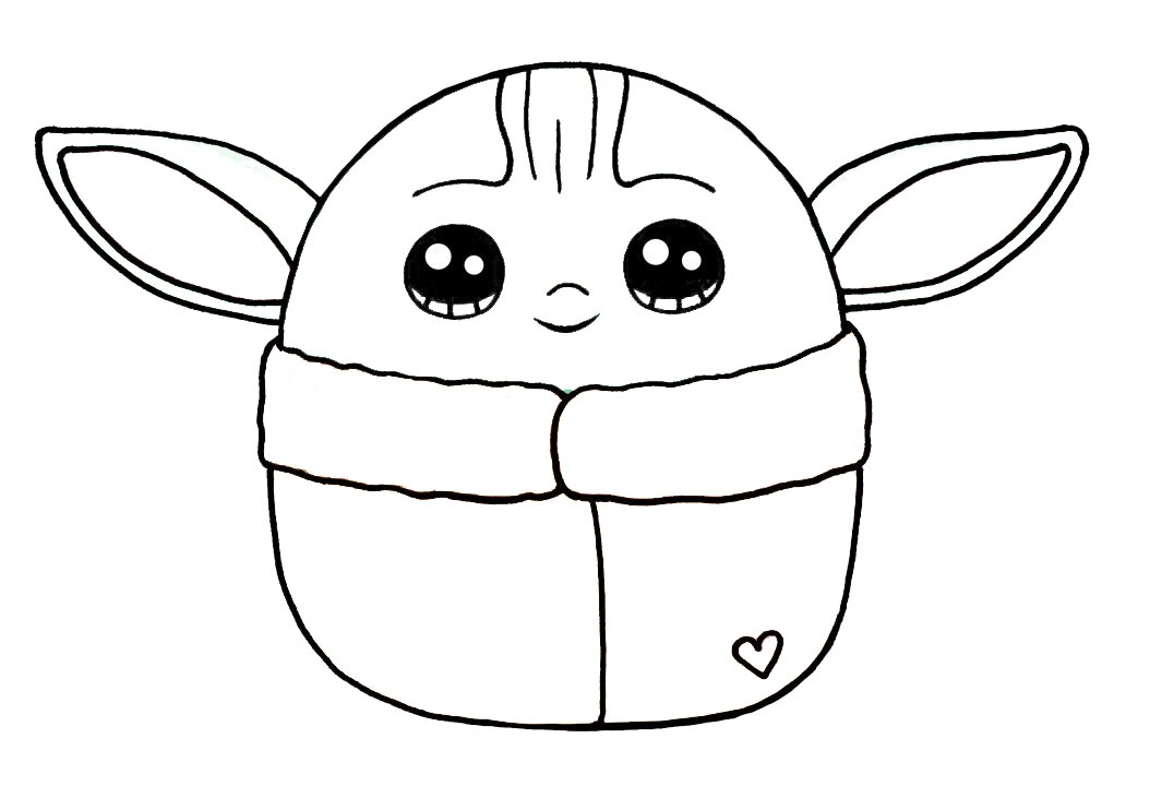 Cool Baby Yoda Coloring Pages