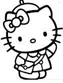 Cool Hello Kitty Coloring Page