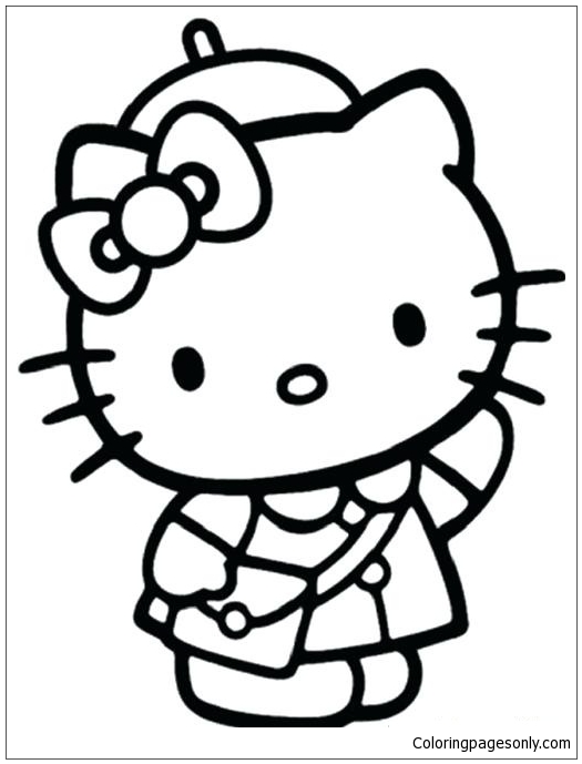 Cool Hello Kitty Coloring Page - Free Coloring Pages Online