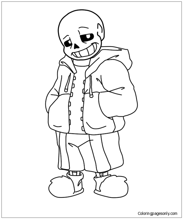 Cool Sans Coloring Pages - Sans Coloring Pages - Coloring Pages For Kids  And Adults