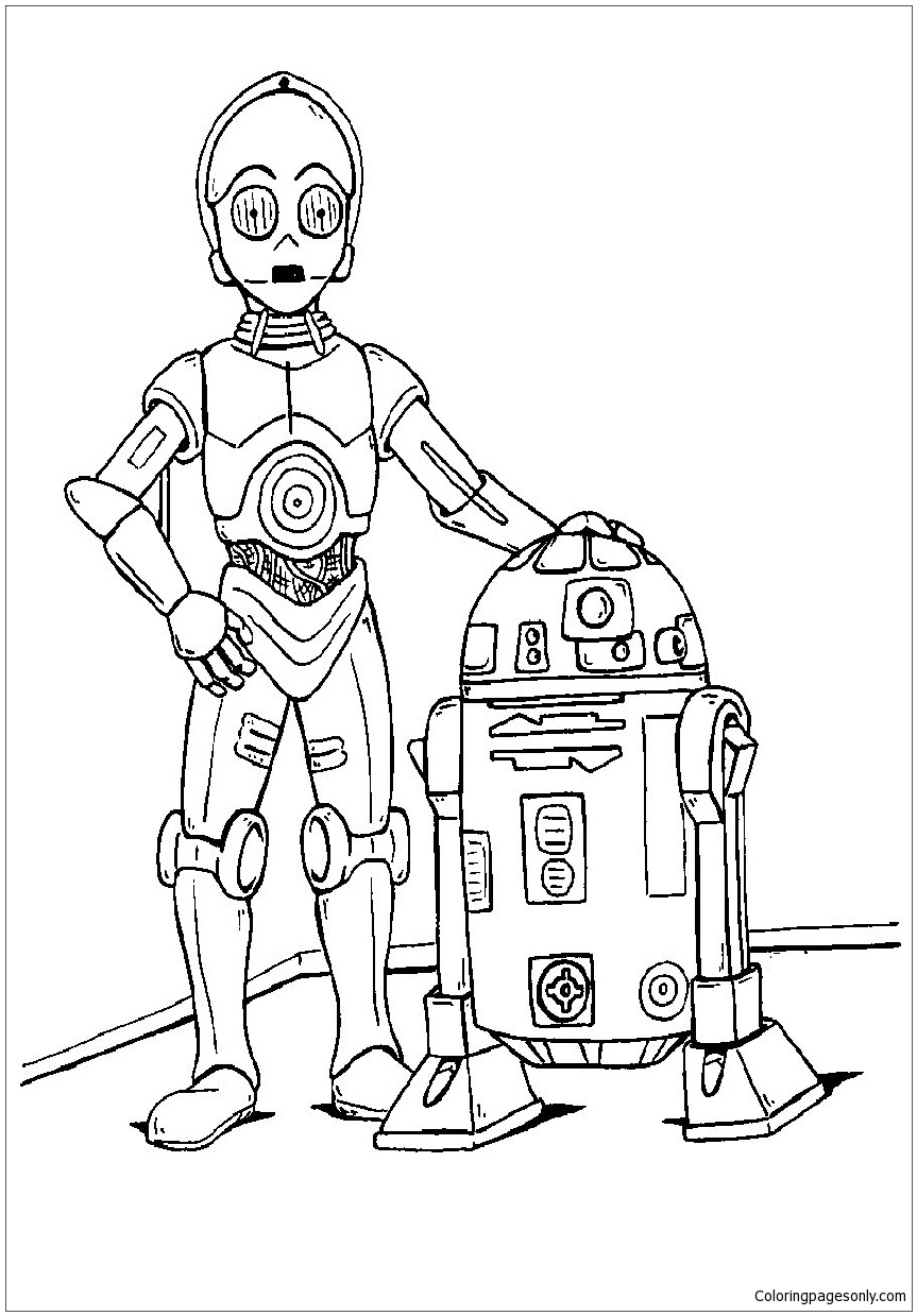 Cool Star Wars Coloring Page