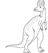 Corythosaurus Dinosaur Coloring Page