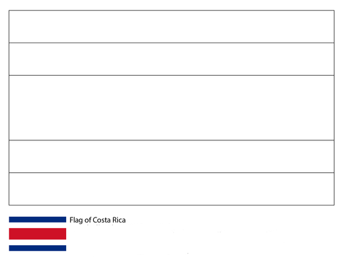 Flag of Costa Rica-World Cup 2018