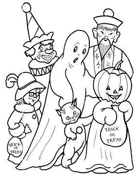 Costume Fun Halloween Coloring Page