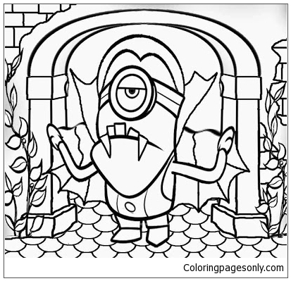 Costume One Eyed Minion Coloring Page - Free Coloring Pages Online