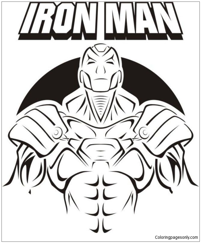 Cover Of Iron Man Coloring Page
