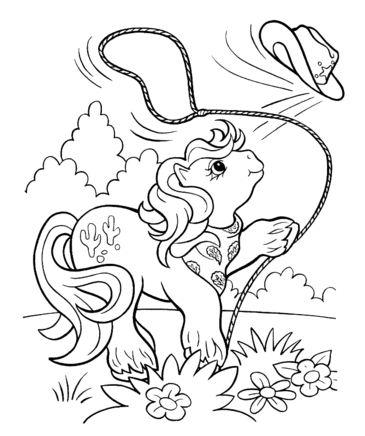 Cowboy Pony Coloring Page