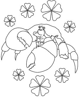 Crab From Moana Coloring Page