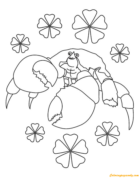 Crab From Moana Coloring Pages - Cartoons Coloring Pages - Free Printable Coloring  Pages Online