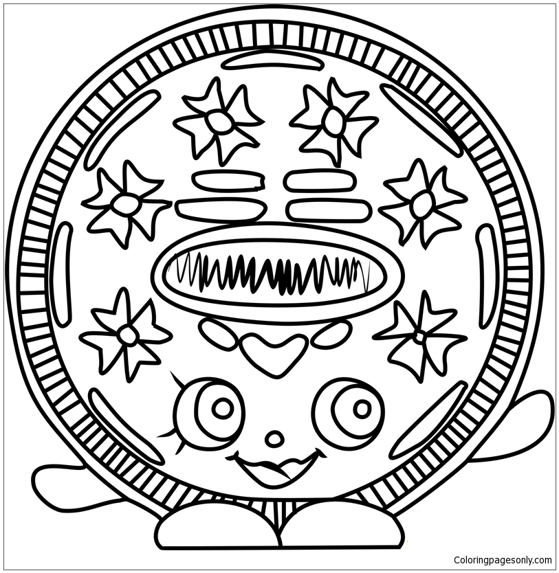 Cream E Cookie Shopkins Coloring Pages - Toys And Dolls Coloring Pages - Coloring  Pages For Kids And Adults