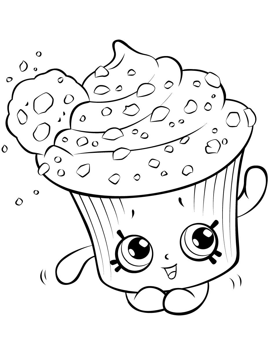 Creamy Cookie Cupcake Shopkin Season 5 Coloring Page