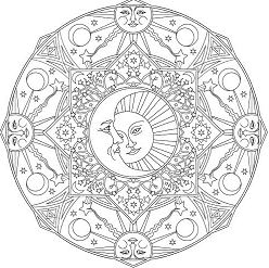 Creative Haven Celestial Mandalas