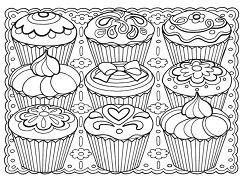 Creative Haven Designer Desserts Coloring Page
