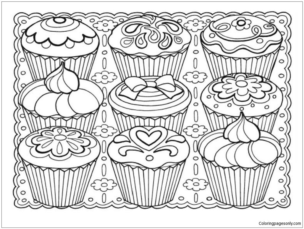 Creative Haven Designer Desserts Coloring Pages Food Coloring Pages Free Printable Coloring Pages Online