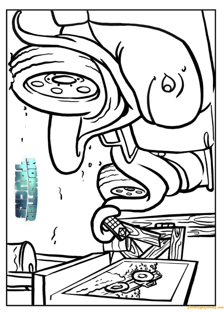 creech in tripp monster truck coloring page - Monster Truck Coloring Pages Free