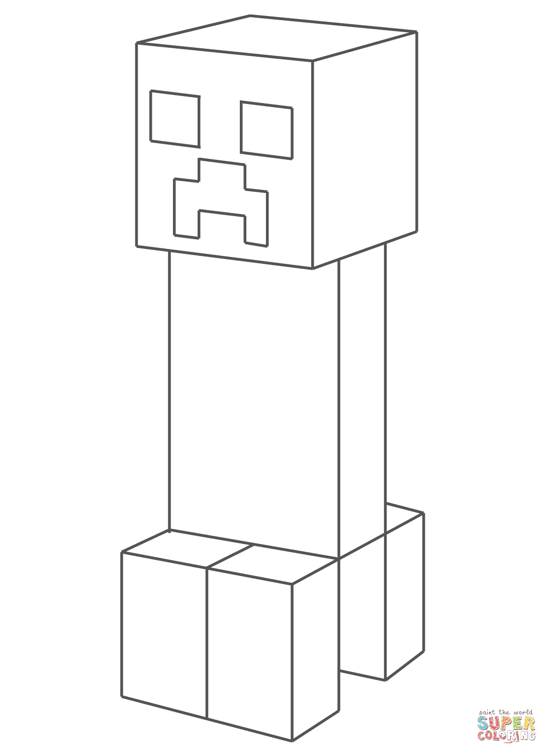 creeper from minecraft coloring page free coloring pages