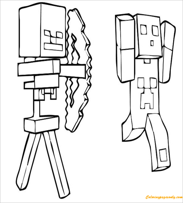 Creeper Minecraft Coloring Page - Free Coloring Pages Online