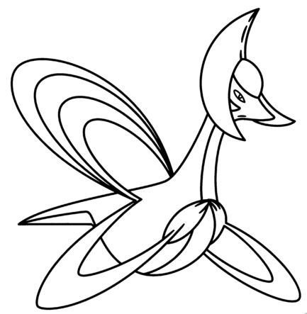 Cresselia Pokemon Coloring Page