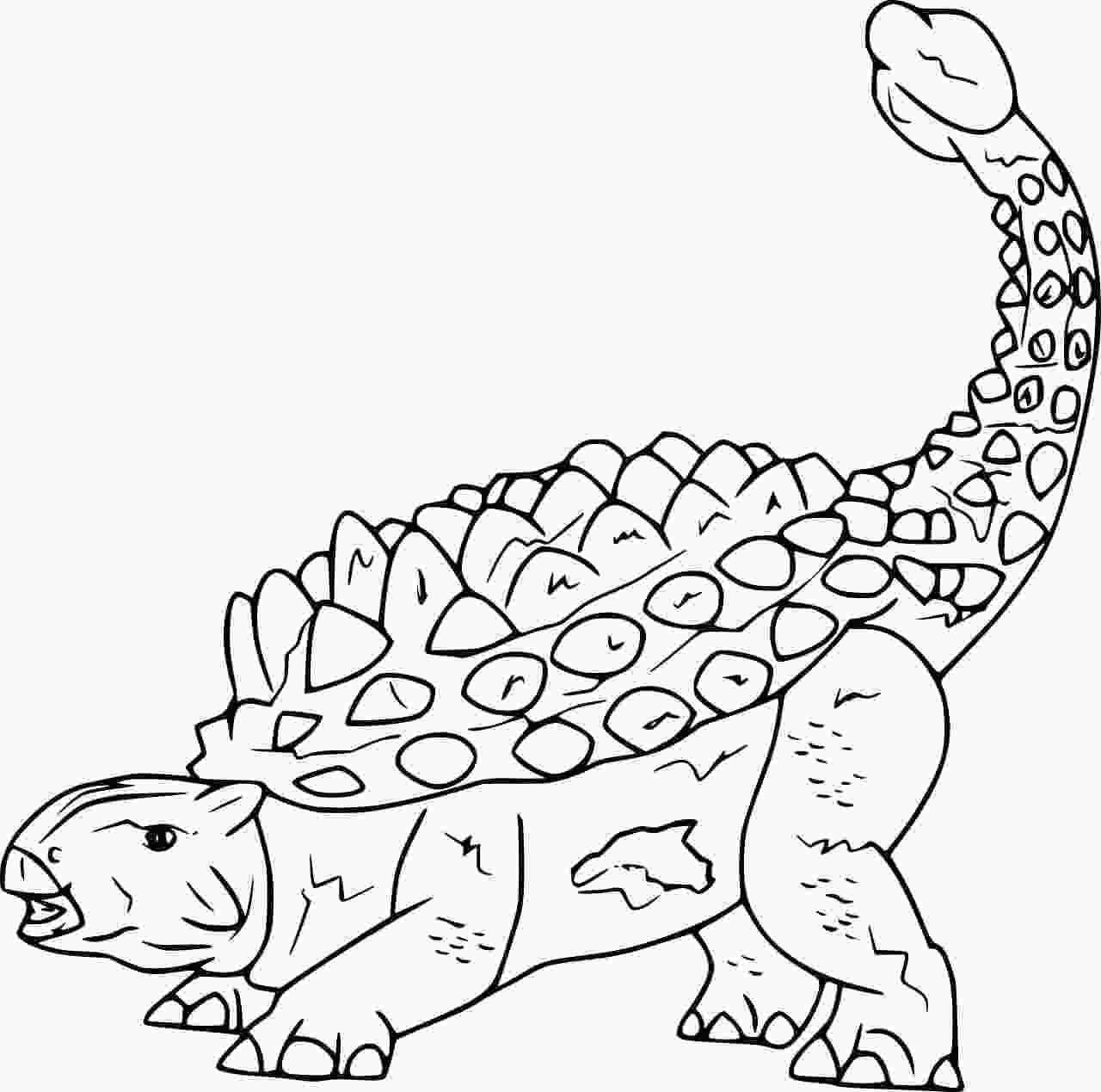 Crichtonsaurus is a genus of ankylosaurid dinosaur that originated from Late Cretaceous Asia Coloring Page