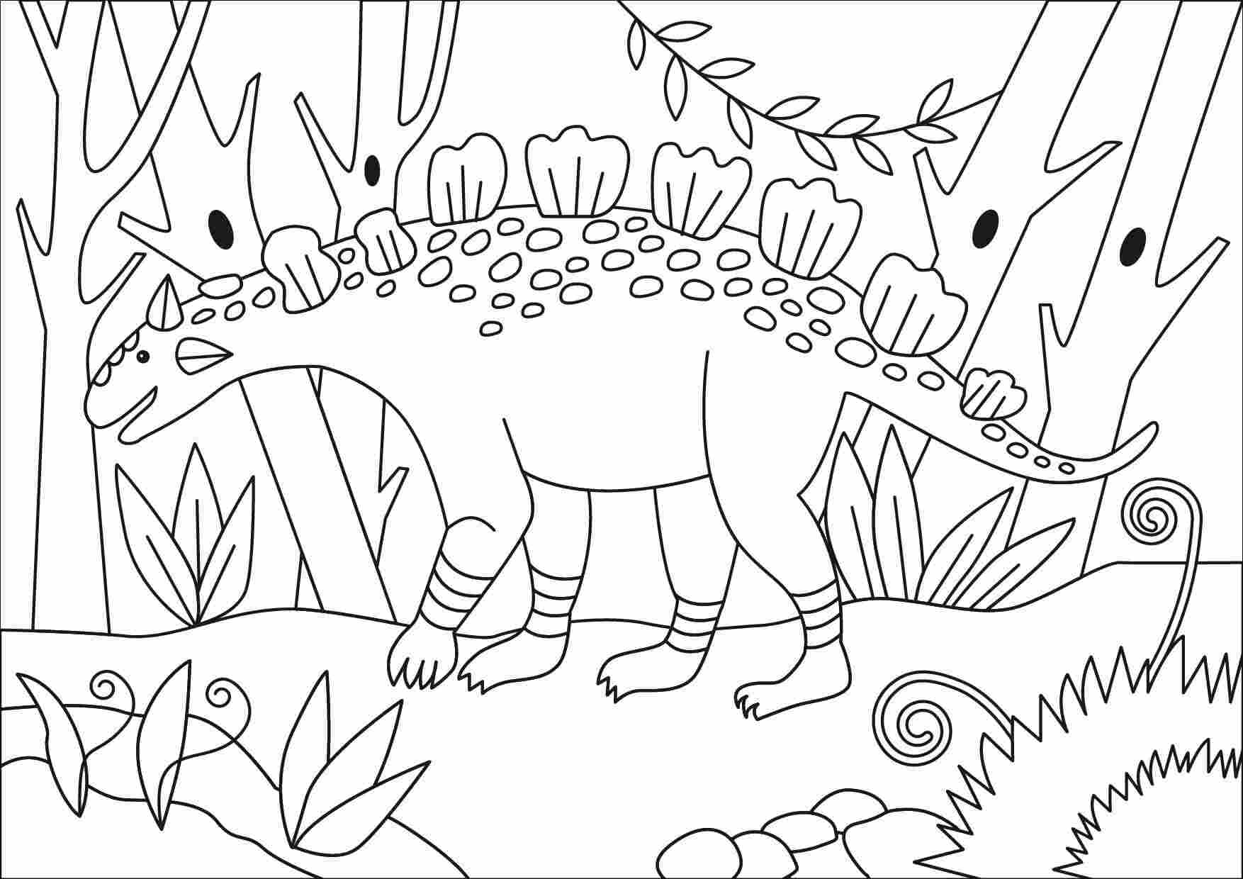 Crichtonsaurus is one of Ankylosaurus Dinosaurus types Coloring Page