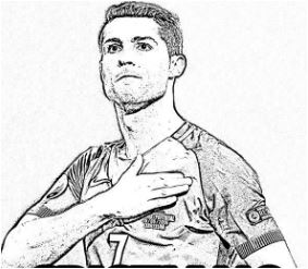 Cristiano Ronaldo-image 10 Coloring Page