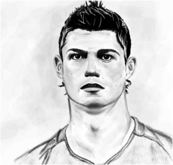 Cristiano Ronaldo-image 13 Coloring Page