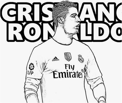 Cristiano Ronaldo-image 14 Coloring Page