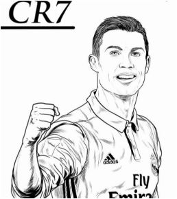 Cristiano Ronaldo-image 5 Coloring Page